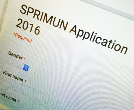 Applications for SPRIMUN 2016 are open!